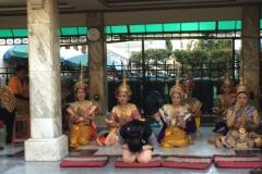 Templo no Centro de Bangkok