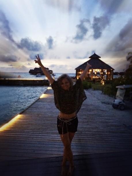 Pôr do Sol em Maldivas
