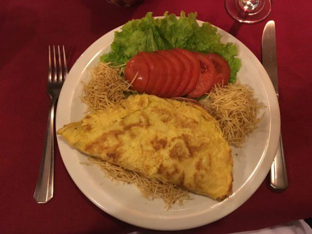 Omelete do Hotel Luxor